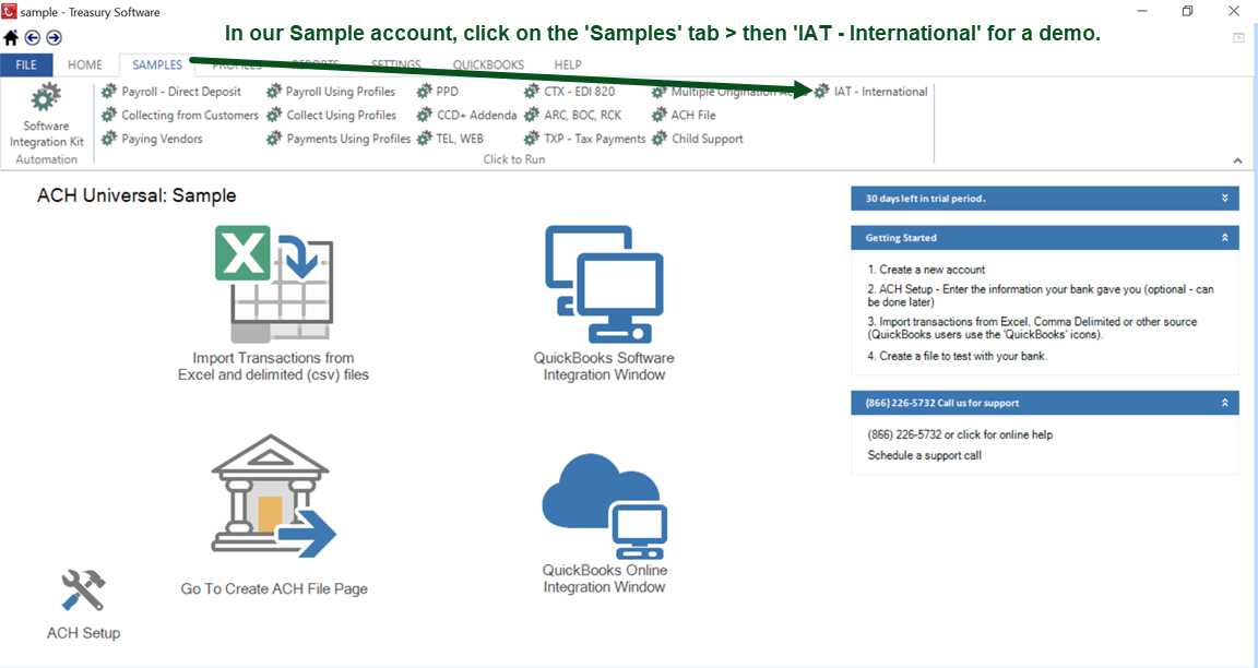 International Transactions (IAT) – Treasury Software